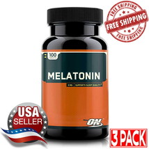 3 Pack Optimum Nutrition Melatonin 3mg (100 Tabs) New Sealed Free Shipping - $19.30