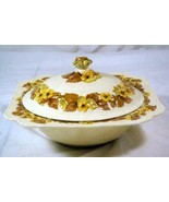 Crown Ducal Pattern CRD5 Square Covered Serving Bowl Gainsborough Line - $25.19