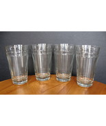 Longaberger Glass - Woven Traditions - 16-oz. Flat Tumbler - Four (4) Av... - $30.00