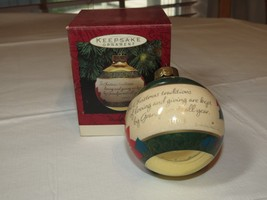 HALLMARK Keepsake Ornament 1993 Grandparents Glass Christmas Ball - $11.87