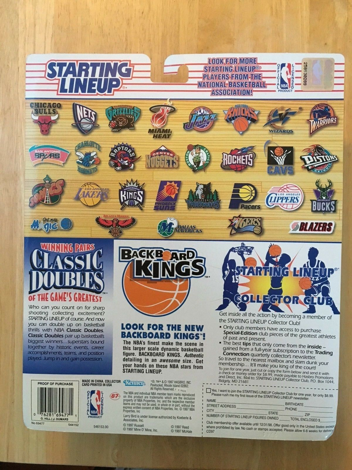 Starting Lineup 1997 Joe Dumars Grant Hill Detroit Pistons NBA Classic Doubles