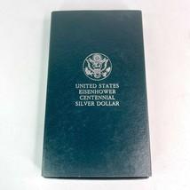 1990 Eisenhower Centennial Silver Dollar 90% OGP US Coin & Box - West Point - $27.87