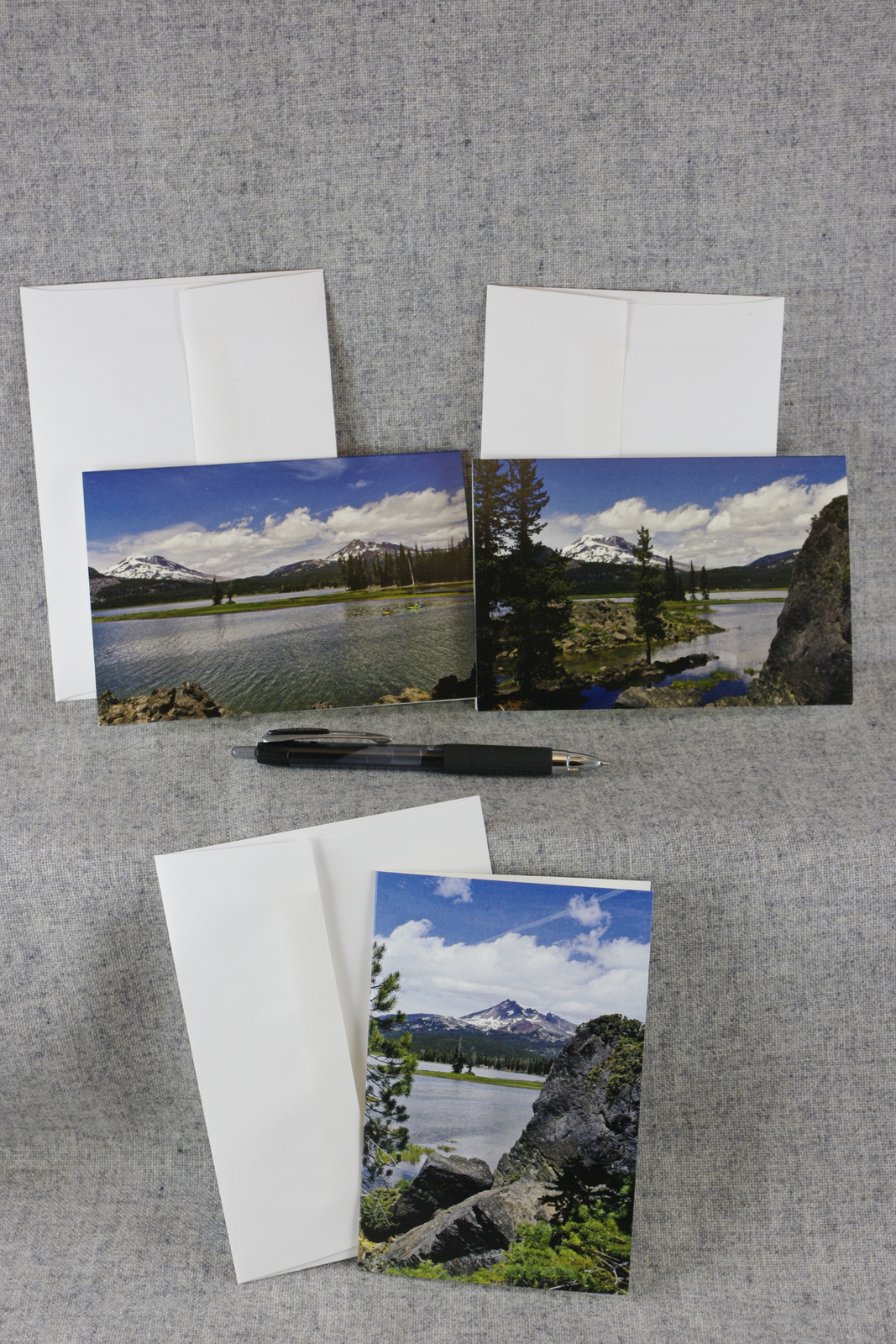 Primary image for Sparks Lake Oregon South Sister  Broken Top Mountain 3Set 4x6 Photo Blank cards