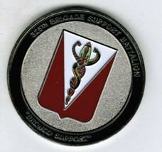 325th BSB Challenge Coin Commander CSM Issued Army Brigade Support Battalion - $25.60