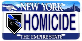 Police Homicide New York Aluminum License plate - $13.81