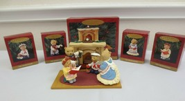 Hallmark Keepsake Ornament 1993 The Bearingers  with Flickering Fireplace 5 pcs - $40.00
