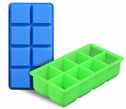 8 Cavity 1.8inch Square Ice Tray Custom Silicone Ice Cube Mold For Cockt... - $4.99