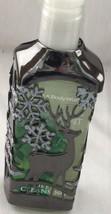 Christmas Liquid Hand Soap Holder Gun Metal Color, Reindeer with Snowfla... - $15.00