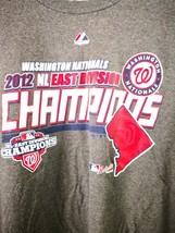 MLB Washington Nationals 2012 NL East Division Champions T-Shirt Size 2X... - $9.99
