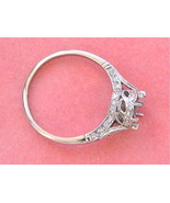 ANTIQUE STYLE .22ctw DIAMOND PLATINUM 1 CARAT (6.5mm) ENGAGEMENT RING MO... - $2,771.01