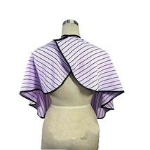 Beauty Salon Client Gown Waterproof Coloring Dye Cape Smock, Purple Stripe
