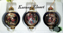Promise of a Saviour Heirloom Ornaments - Set of 3 Bradford Exchange - NIB - $57.03