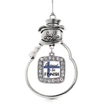 Inspired Silver Proud to be Finnish Classic Snowman Holiday Ornament - $14.69