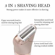 Hair Removal for Women, RenFox Electric Hair Remover Rechargeable Facial Hair Re image 3