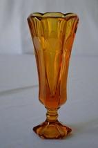 Fostoria Coin Amber Vase - $7.92