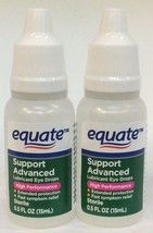 2 Equate Support Advanced Lubricant Eye Drops High Performance 0.5 fl oz... - $9.45