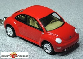 RARE KEY CHAIN RING RED VW NEW BEETLE VOLKSWAGEN BUG COX CUSTOM LIMITED ... - $38.98