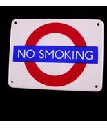 Vintage Enamel No Smoking Sign - Garnier Gifts London - novelty miniature  - $55.00