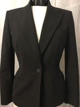 Anne Klein Women's Blazer Black Fully Lined Pinstripe Blazer Size 2 - $22.09