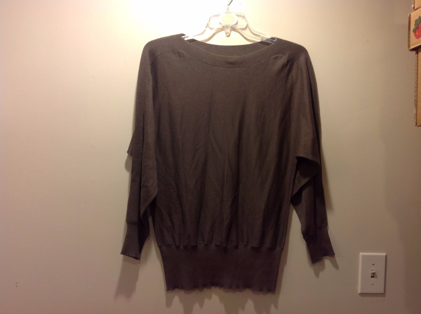 ALFANI Gray Brown Loose Stretchy Sweater Sz Large