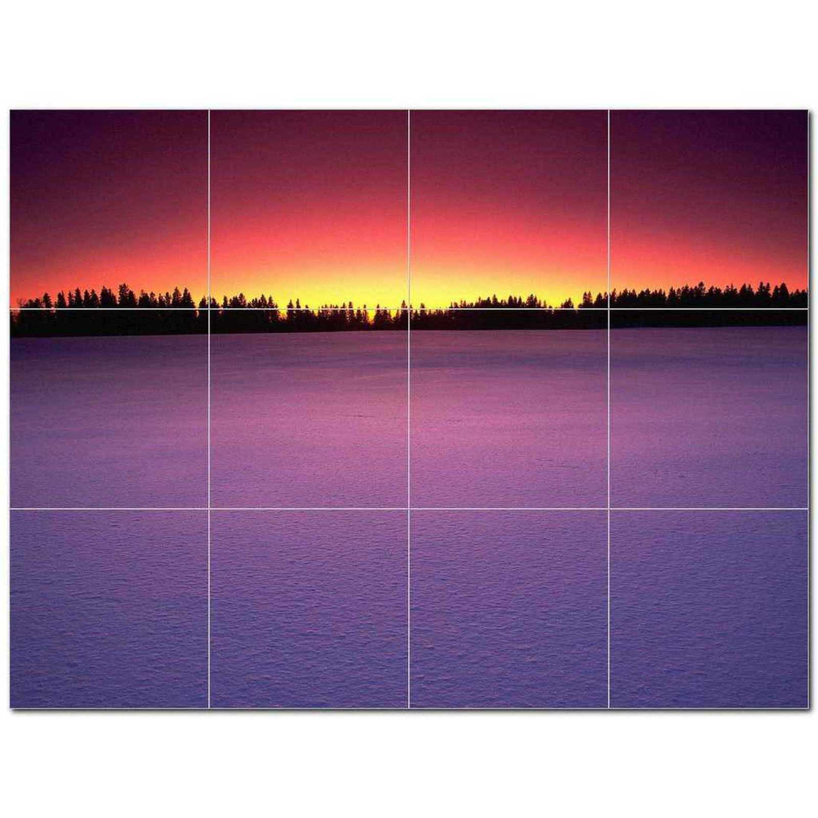 Primary image for Sunset Photo Ceramic Tile Mural Kitchen Backsplash Bathroom Shower BAZ405940