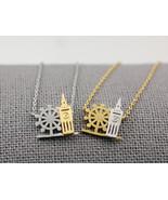 London Necklace,  Big Ben, London Eye Necklace, London Cityscape Necklac... - $14.50
