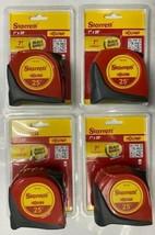 Starrett TX1-25 Exact 25ft Blade Shield 2X Tape Measure 4pcs - $33.66