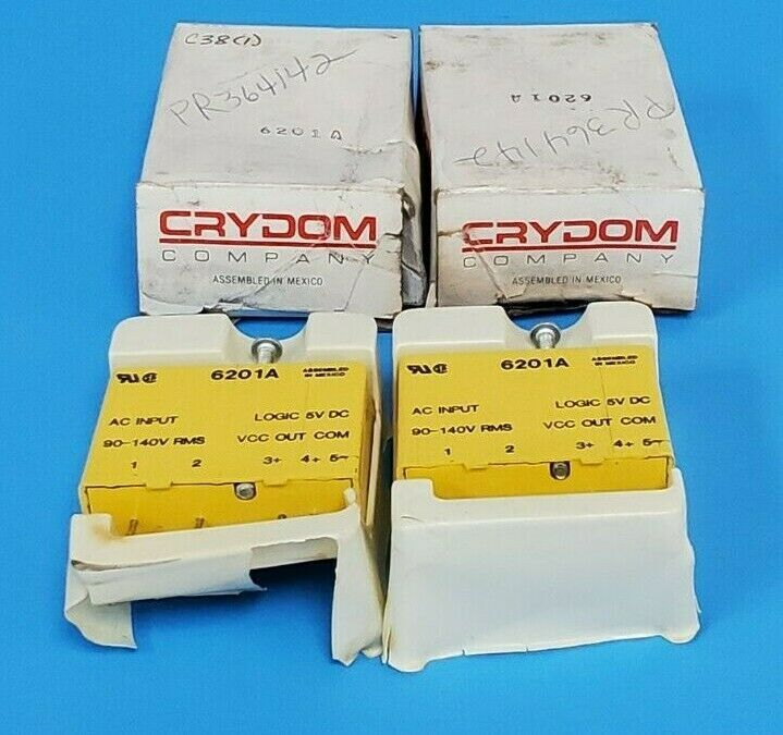 LOT OF 2 NIB CRYDOM 6201A I/O MODULES EXTERNAL DEPTH:15.2MM; LEADED PROCESS