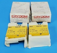 LOT OF 2 NIB CRYDOM 6201A I/O MODULES EXTERNAL DEPTH:15.2MM; LEADED PROCESS image 1