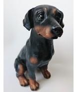 "ROTTWEILER DOG FIGURINE Resin 5"" Black Tan Dobermann Puppy Statue NEW - $12.99"