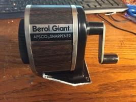 Vintage Giant Apsco Berol Made in USA Mounted Adjustable Pencil Sharpene... - $28.70