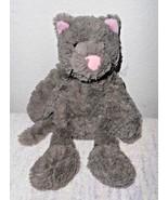 Manhattan Toy Grey Kitty Cat Kitten Plush Stuffed Animal Pink Nose Ears  - $21.76