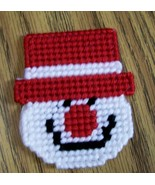 Plastic Canvas Christmas Snowman Magnet, Fridge, Needlepoint, Handmade, ... - $5.00