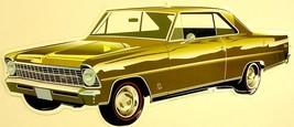 Chevrolet Nova Green Gold Plasma Cut Metal Sign - $19.95
