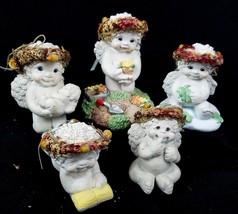 Dreamsicles Figurines Lot of 5 DC087 10540 DC322 Cherub Baby Gardening R... - $18.13