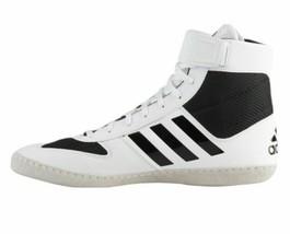 adidas Men Combat Speed 5  White Black Wrestling Shoes AC7501 Size 9.5 - $69.95
