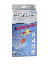 Klear Shopping Cart Handle Wrap Reusable Guard Cover Hot Pink - $7.43