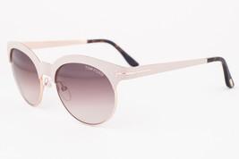 Tom Ford Angela White Gold / Brown Gradient Sunglasses TF438 28F - $165.62
