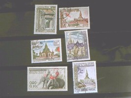 Laos Set of 6 Stamps MINT -canceled - MNH Free Shipping # 001823 - $1.68