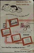 Vintage Magic Etch A Sketch Screen Ohio Art Family Tested Toy Ad Brochure - $39.15