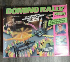 VINTAGE 1990 Pressman Domino Rally Neon Super Deluxe Set - $19.88