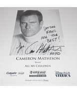 Cameron Mathison Autograph Reprint Photo 9x6 All My Children 2007 Dancin... - $4.99