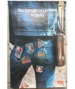 Levi's Vintage 1980's Promotional Poster Jeans 29*19 Inch You Can Go Any... - $79.50