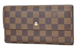 Authentic LOUIS VUITTON Porte Tresor International Wallet Damier Ebene #... - $215.10