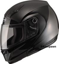 S GMax MD04 Gloss Black Modular Street Motorcycle Helmet DOT image 1