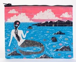 "Lonely Mermaid Standard Zipper Pouch New 7.25""h x 9.5""w Blue Q Fishy Luck - $8.99"