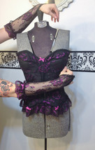 Vintage Pin Up Corset & Sleeves by Undercover Wear, Size 34, 1970's Tedd... - $65.00