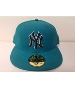 New Era 59Fifty MLB New York Yankees Mens Green Fitted Size 7 Cap Made i... - $24.25