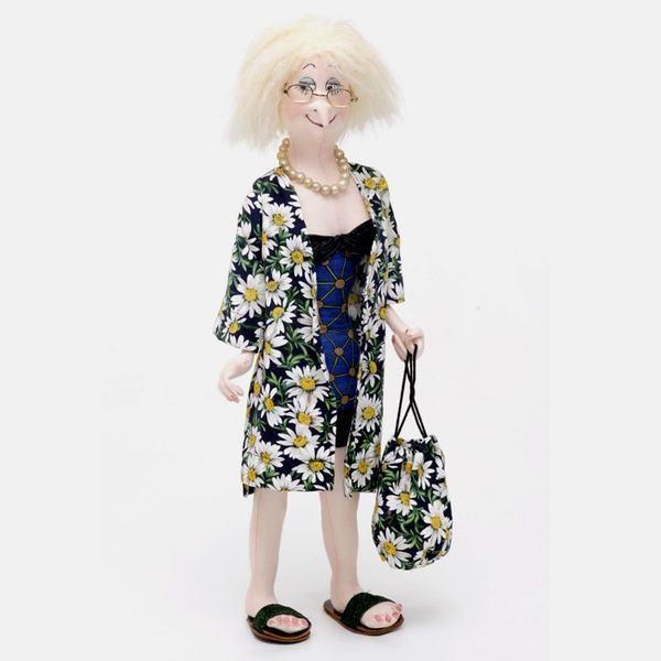 """Olive at the Beach"" PDF Digital Cloth Doll E-Pattern Download By Jill Maas"