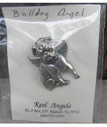 Bulldog Angel Pin Pendant by Reel Angels Haskell Texas - $18.00